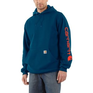 カーハート Carhartt メンズ パーカー トップス midweight hooded logo sleeve sweatshirt Superior Blue|fermart2-store