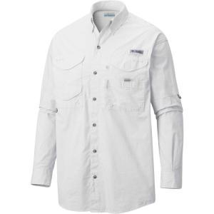 コロンビア メンズ トップス Columbia PFG Super Bonehead Classic Long Sleeve Fishing Shirt White|fermart2-store