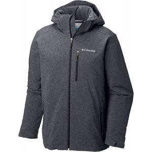コロンビア メンズ ジャケット アウター Columbia Gate Racer Softshell Jacket Graphite Heather/Black|fermart2-store