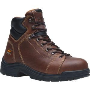 ティンバーランド Timberland メンズ ブーツ シューズ・靴 PRO TiTAN Lace-to-Toe 6' Alloy Safety Toe Work Boots Brown|fermart2-store
