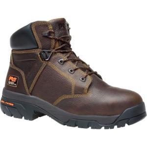 ティンバーランド Timberland メンズ ブーツ シューズ・靴 PRO Helix 6'' Alloy Toe Work Boots Brown|fermart2-store