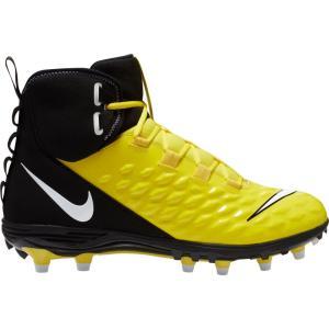 ナイキ Nike メンズ アメリカンフットボール スパイク シューズ・靴 Force Savage Varsity 2 Mid Football Cleats Opti Yellow/Black|fermart2-store