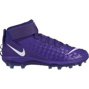 ナイキ Nike メンズ アメリカンフットボール スパイク シューズ・靴 Force Savage Pro 2 Mid Football Cleats Purple/White|fermart2-store