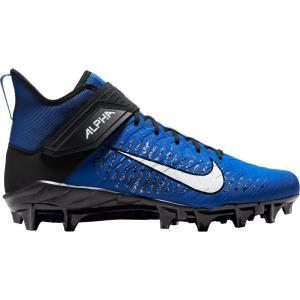 ナイキ Nike メンズ アメリカンフットボール スパイク シューズ・靴 Alpha Menace Pro 2 Mid Football Cleats Game Royal/White/Black|fermart2-store