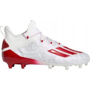 アディダス adidas メンズ アメリカンフットボール シューズ・靴 adizero New Reign Football Cleats White/Red|fermart2-store