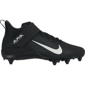 ナイキ Nike メンズ アメリカンフットボール スパイク シューズ・靴 Alpha Menace Varsity 2 D Mid Football Cleats Black/White|fermart2-store