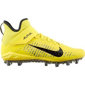 ナイキ Nike メンズ アメリカンフットボール スパイク シューズ・靴 Alpha Menace Pro 2 Mid Football Cleats Yellow/Black|fermart2-store