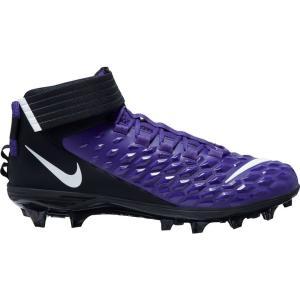 ナイキ Nike メンズ アメリカンフットボール スパイク シューズ・靴 Force Savage Pro 2 Mid Football Cleats Purple/White/Black|fermart2-store
