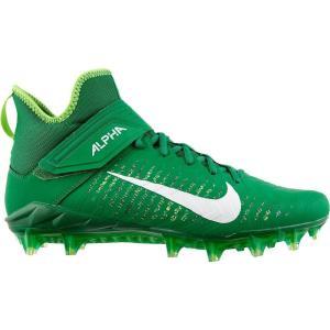 ナイキ Nike メンズ アメリカンフットボール スパイク シューズ・靴 Alpha Menace Pro 2 Mid Football Cleats Green/White|fermart2-store