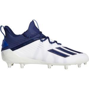 アディダス adidas メンズ アメリカンフットボール シューズ・靴 adizero Football Cleats White/Navy|fermart2-store