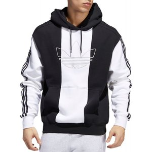 アディダス adidas メンズ パーカー トップス Originals Off Court Trefoil Hoodie Black/Black/White|fermart2-store