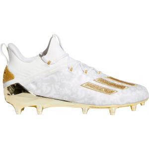 アディダス adidas メンズ アメリカンフットボール スパイク シューズ・靴 adizero New Reign Football Cleats White/Gold|fermart2-store