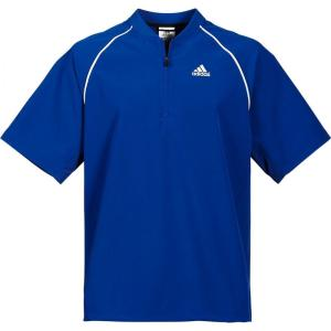 アディダス adidas メンズ 野球 アウター Triple Stripe Short Sleeve Batting Jacket Blue Surf fermart2-store