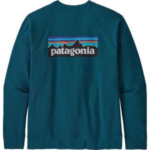 パタゴニア Patagonia メンズ スウェット・トレーナー トップス P-6 Logo Organic Crew Sweatshirt Crater Blue|fermart2-store