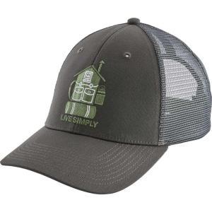 パタゴニア Patagonia メンズ キャップ トラッカーハット 帽子 Live Simply Home LoPro Trucker Hat Forge Grey|fermart2-store