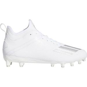 アディダス adidas メンズ アメリカンフットボール スパイク シューズ・靴 adizero Scorch Football Cleats White/Silver|fermart2-store