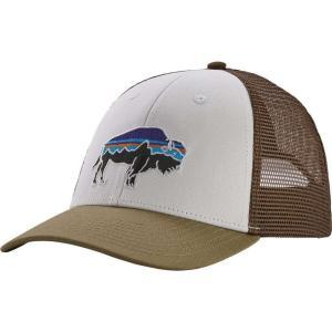 パタゴニア Patagonia メンズ キャップ トラッカーハット 帽子 Fitz Roy Bison LoPro Trucker Hat White/Sage Khaki|fermart2-store