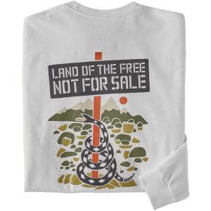 パタゴニア Patagonia メンズ 長袖Tシャツ トップス Long-Sleeved Not For Sale Responsibili-Tee T-Shirt White|fermart2-store