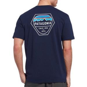 パタゴニア Patagonia メンズ Tシャツ トップス Fitz Roy Hex Responsibili-Tee T-Shirt Classic Navy|fermart2-store