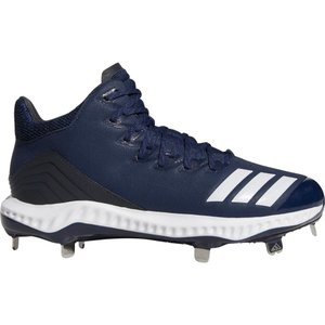 アディダス adidas メンズ 野球 スパイク シューズ・靴 Icon Bounce Mid Metal Baseball Cleats Navy/White|fermart2-store