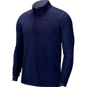 ナイキ Nike メンズ ゴルフ ハーフジップ ドライフィット トップス Dri-FIT Victory 1/2 Zip Golf Pullover Blue Void|fermart2-store