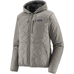 パタゴニア Patagonia メンズ ブルゾン ミリタリージャケット アウター Diamond Quilted Bomber Hoodie Salt Grey|fermart2-store