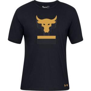 アンダーアーマー Under Armour メンズ Tシャツ トップス Project Rock Above The Bar Graphic T-Shirt Black/Black|fermart2-store