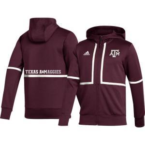 アディダス adidas メンズ ジャケット アウター Texas A&M Aggies Maroon Under the Lights Full-Zip Jacket|fermart2-store