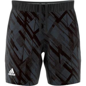 アディダス adidas メンズ テニス ショートパンツ ボトムス・パンツ Printed Tennis Shorts Black fermart2-store