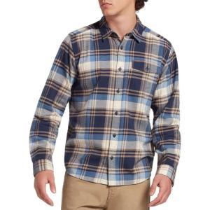 パタゴニア Patagonia メンズ シャツ フランネルシャツ トップス Lightweight Fjord Flannel Long Sleeve Shirt Buttes/New Navy|fermart2-store