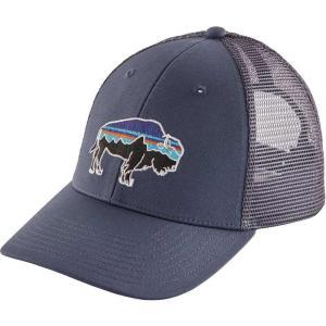 パタゴニア Patagonia メンズ キャップ トラッカーハット 帽子 Fitz Roy Bison LoPro Trucker Hat Dolomite Blue|fermart2-store