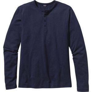 パタゴニア Patagonia メンズ 長袖Tシャツ ヘンリーシャツ トップス Daily Henley Long Sleeve Shirt Navy Blue|fermart2-store
