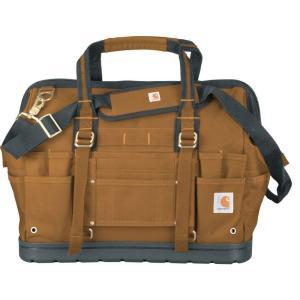 カーハート Carhartt ユニセックス バッグ Legacy 18'' Tool Bag with Molded Base Carhartt Brown|fermart2-store