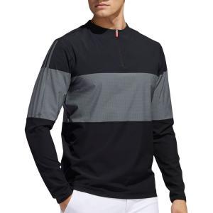 アディダス adidas メンズ ゴルフ ウィンドブレーカー アウター Lightweight 1/4 Zip Golf Windbreaker Black/Grey Three fermart2-store