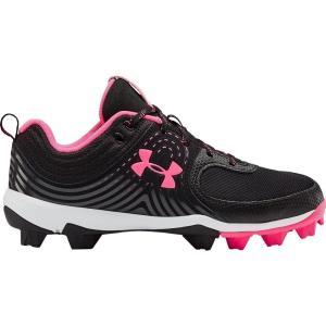アンダーアーマー Under Armour レディース 野球 スパイク シューズ・靴 Glyde RM Softball Cleats Black/Pink|fermart2-store