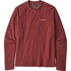 パタゴニア Patagonia メンズ スウェット・トレーナー トップス Line Logo Ridge Lightweight Crew Sweatshirt Oxide Red|fermart2-store