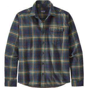 パタゴニア Patagonia メンズ シャツ フランネルシャツ トップス Lightweight Fjord Flannel Long Sleeve Shirt Lawrence/New Navy|fermart2-store