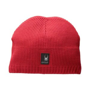 スパイダー Spyder メンズ ニット 帽子 Bug Button Hat Red/Black|fermart2-store