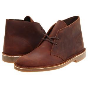 クラークス メンズ ブーツ シューズ・靴 Bushacre 2 Brown Leather|fermart2-store