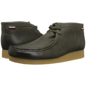 クラークス Clarks メンズ ブーツ シューズ・靴 Stinson Hi Dark Olive Leather|fermart2-store