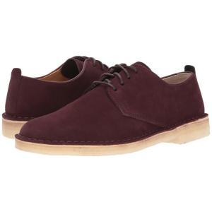 クラークス メンズ 革靴・ビジネスシューズ シューズ・靴 Desert London Burgundy Suede|fermart2-store