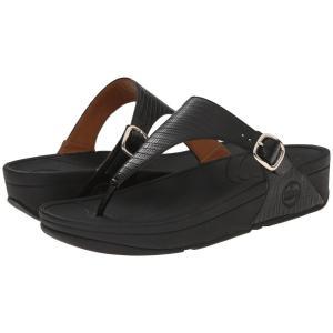 フィットフロップ レディース サンダル・ミュール シューズ・靴 The Skinny' Black|fermart2-store