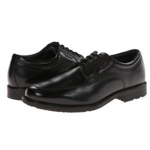 ロックポート Rockport メンズ 革靴・ビジネスシューズ シューズ・靴 Lead The Pack Apron Toe Black WP Leather|fermart2-store