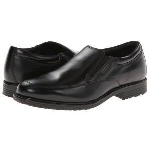 ロックポート Rockport メンズ ローファー シューズ・靴 Lead the Pack Slip-On Black WP Leather|fermart2-store