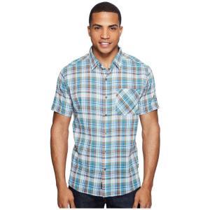 キュール KUHL メンズ 半袖シャツ トップス Tropik S/S Shirt Stellar Blue|fermart2-store
