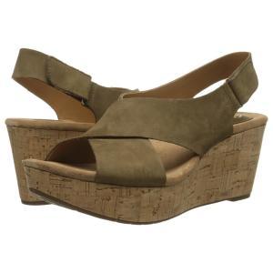 クラークス レディース サンダル・ミュール シューズ・靴 Caslynn Shae Khaki Nubuck|fermart2-store