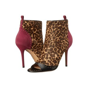 サルヴァトーレ フェラガモ Salvatore Ferragamo レディース ブーツ シューズ・靴 Mixed Media Mid-Heel Bootie Nero|fermart2-store