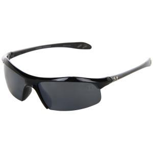 アンダーアーマー メンズ スポーツサングラス Zone Polarized Shiny Black/Gray Polarized Multiflection|fermart2-store