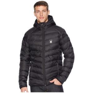 スパイダー Spyder メンズ ダウン・中綿ジャケット アウター Geared Hoody Synthetic Down Jacket Black/Black/Black|fermart2-store