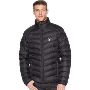 スパイダー Spyder メンズ ダウン・中綿ジャケット アウター Geared Synthetic Down Jacket Black/Black/Black|fermart2-store